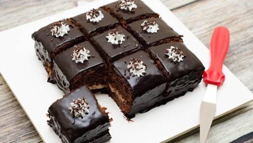 切巧克力蛋糕超级过瘾,治愈心灵,货真价实的巧克力蛋糕