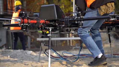 大型无人机,甚至能够带人飞天?AERONESDRONE无人机