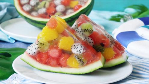 西瓜还能这样吃,谁想出来的,真是太有创意了