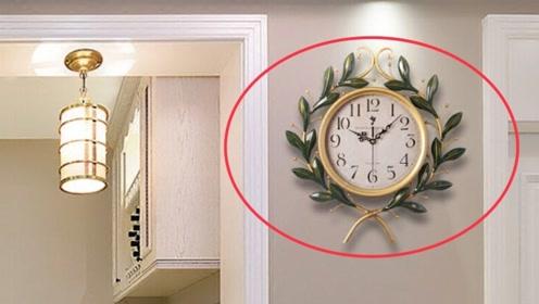 家里这两个位置,最好别挂钟表,不是迷信,挂错的立马回家挪走