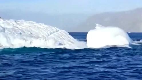 德国考察队在北极拍摄的画面,冰川正在融化