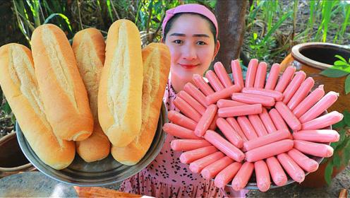 泰国网红美女直播制作热狗,网友直言真过瘾