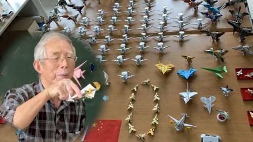 成都75岁老人折纸飞机65年,编排千架机群献礼祖国