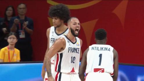 篮球世界杯富尼耶十佳球 体前变向双手暴扣三秒突破光速上篮