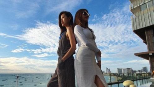 蔡依林海边度假穿开叉裙秀美腿 ,自侃旅行一趟又长高了