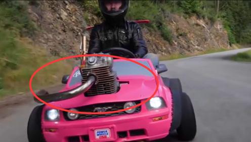 玩具车装汽车发动机会怎样?专业赛车手亲测,这动力怕是要上天!