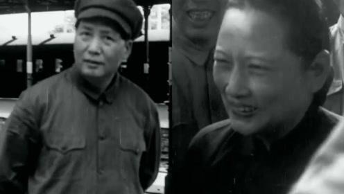 珍贵画面!新中国即将诞生之际 毛泽东亲自登上火车迎接宋庆龄