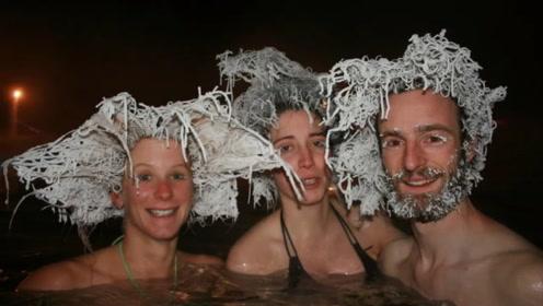 """最""""奇葩""""冻发大赛,要把头发冻成冰雕,谁最奇怪谁获胜"""