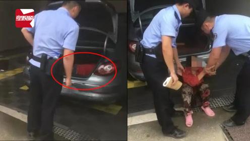 安徽一男子洗完车一瞧,后备箱竟睡着个红衣女子:我只想睡觉