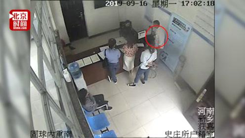 忒大胆!男子派出所内偷手机 整个作案过程被拍下