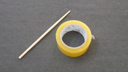 放一根筷子在透明胶带上,太神奇了,家里人都夸赞,真的太实用了