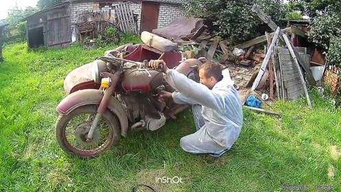 小伙启动了一辆报废50多年的摩托车,只听发动机声音不服都不行