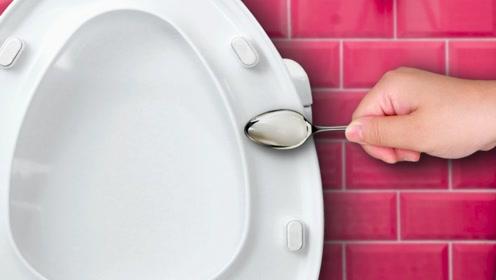 DIY生活小妙招,勺子贴在马桶上,还有这厉害妙用,解决大难题