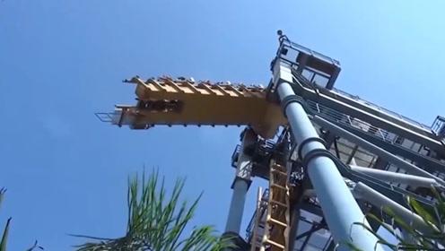中国最刺激的过山车,轨道在空中突然断开,游客笑着上去哭着下来