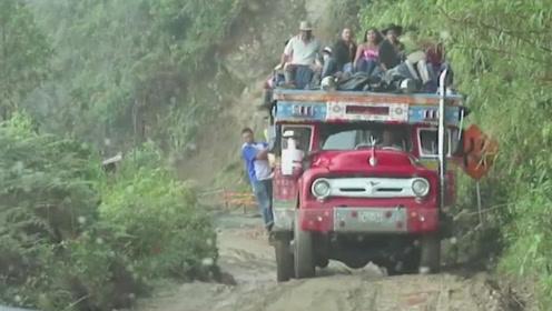 可怕的公路,可怕的司机,网友:更佩服的是坐车人的勇气