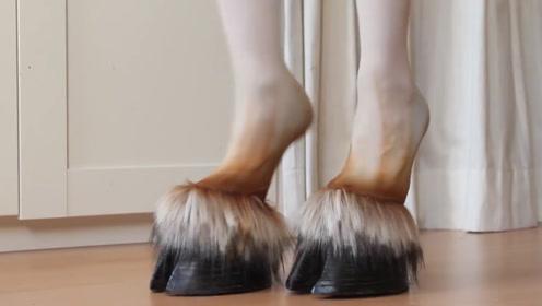 """看不懂的时尚,日本非常流行的""""马蹄""""高跟鞋,一般人驾驭不了!"""
