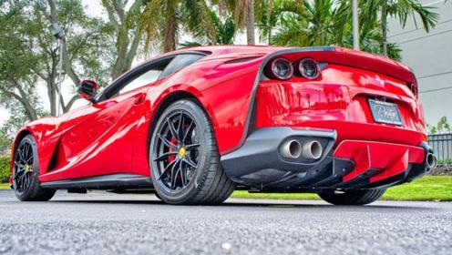 法拉利812,6.5升 V12发动机,启动才明白多霸气!
