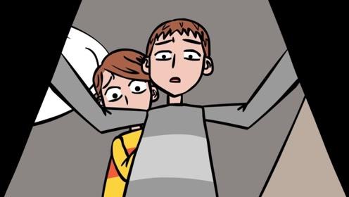男孩的柜子中有声响,立马叫来哥哥,两人打开柜子一看直冒冷汗!