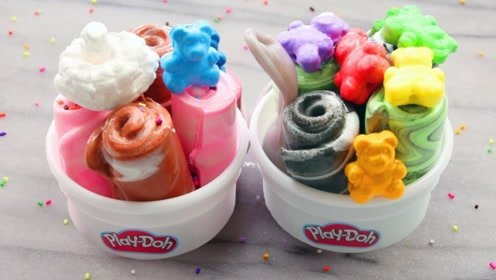 DIY利用超清黏土制作甜品杯,看看是不是颜值超高?声音也好听
