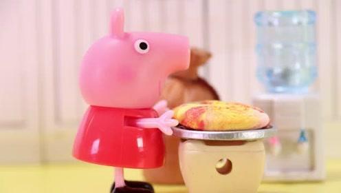 小猪佩奇要做一道好吃的甜品 小朋友们知道做彩虹曲奇吗玩具故事