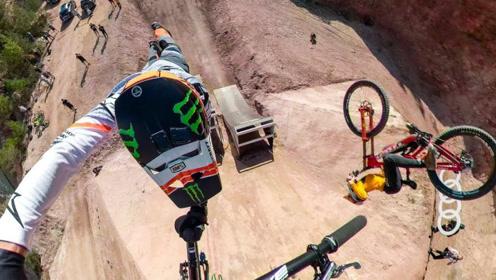 国外小伙骑小轮车在空中翻跟头,看着也太刺激了!