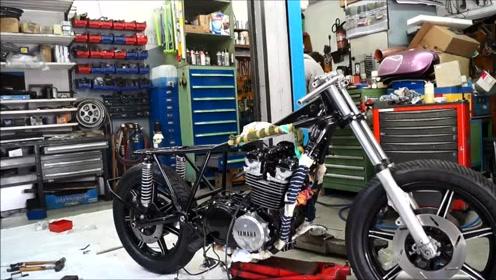 一步步来学改装Yamaha XS850 cafe racer