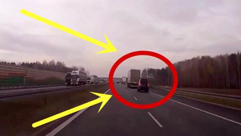 司机为测试新车,一头扎上货车尾部,下秒哭都来不及!