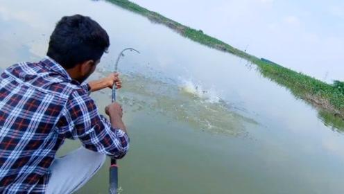 钓鱼:浮漂刚下水就沉下去了