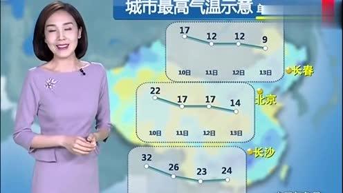 天气预报:天气大转折未来三天,10月10-12号全国气温重点预报!