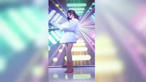网红小姐姐跳舞,发型貌似有点不协调,你们认为呢?