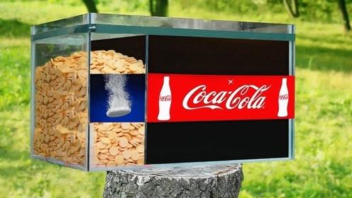 越南小伙亲自测试,将几千片泡腾片放进可乐中,最后场面刺激了!