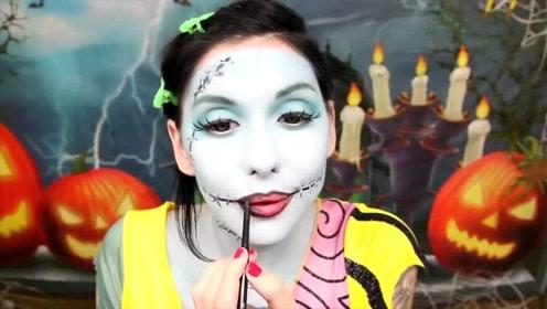国外女子美妆秀:仿妆动漫角色莎莉你觉得像吗?
