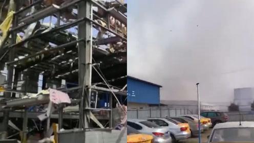 广西玉林一化工厂发生爆炸 遍地断瓦残垣屋顶炸穿 已致4死6伤