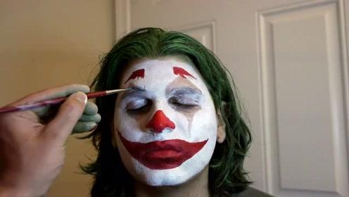 美妆师将小伙化妆打扮成了小丑,你觉得帅气吗?
