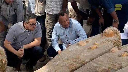 重大发现!埃及新出土20具千年木棺:保存完好、碑文色彩清晰