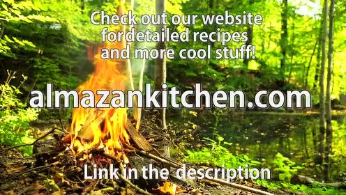 香喷喷的篝火烤肉惠灵顿了解一下 在森林里就地捡木头生起火