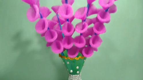趣味小制作:做紫色花束