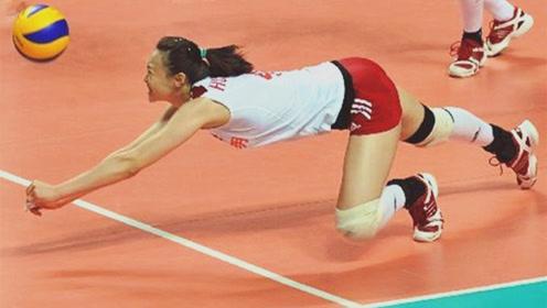 惠若琪打球有多拼?飞身扑向观众席救球,朱婷都看懵了!