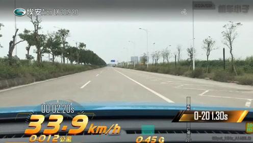 Aion LX 80 0-100km/h加速