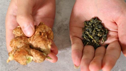茶叶和生姜放一起,原来用处这么大,很多人都还不知道怎么回事!