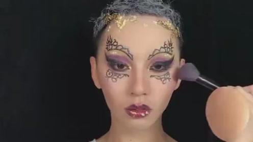 模仿ladygaga贴纸彩妆,真没想到效果会这么惊艳!