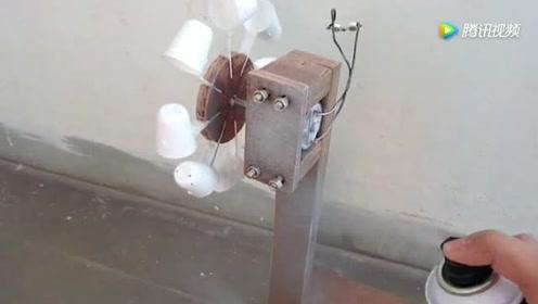 技术牛人教你制作一个水轮发电机,轻松点亮小灯泡