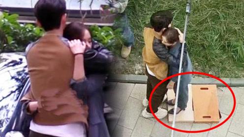 刘诗诗新剧路透照曝光,脚踩10公分模板与朱一龙拥抱,笑坏网友