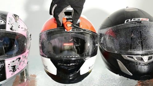 专为头盔设计的雨刷器,下雨天也不用怕,完全不会影响到视线