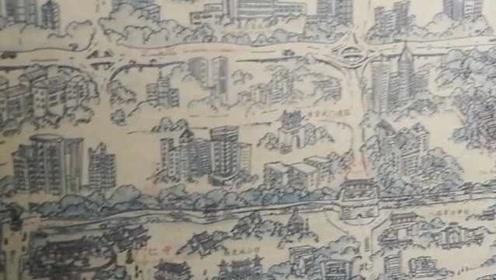 男子走遍西安,3年手绘西安地图:每个人都能找到回忆
