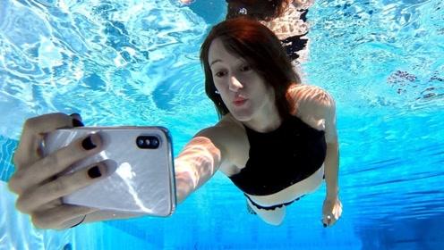 iPhoneX能否在水下拍照?美女冒险一试,最终结果出乎意料!