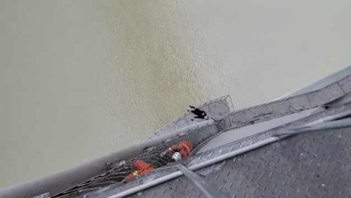 """男子坠落千厮门大桥身悬桥中,被救后""""失忆"""":不知怎么坠桥"""