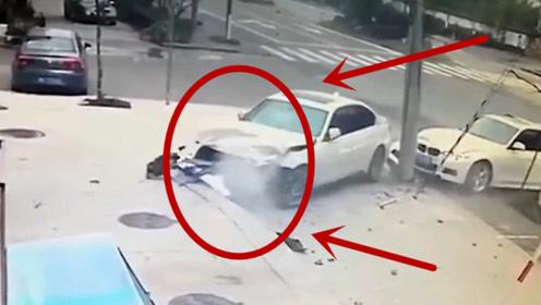 明知十字路口,不踩刹车却加速,当场悲剧了!