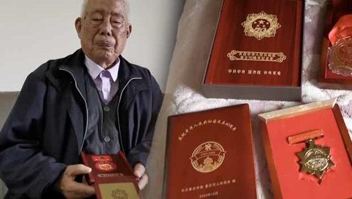 97岁老兵用生命送信,腿留炮弹残片:旅长说,人在信在