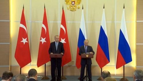 土耳其总统放狠话要再出兵 见到普京后:暂停行动